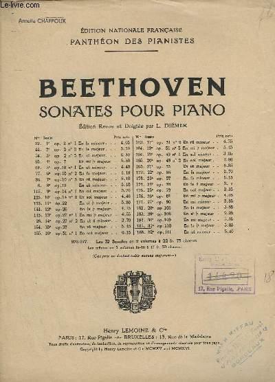SONATES POUR PIANO - N°185 - OP. 110. : 31° SONATE EN LA B MAJEUR.