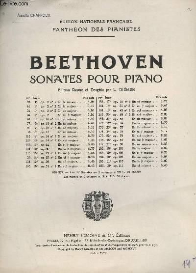 SONATES POUR PIANO - N°177 - OP. 90. : 27° SONATE EN MI MINEUR.