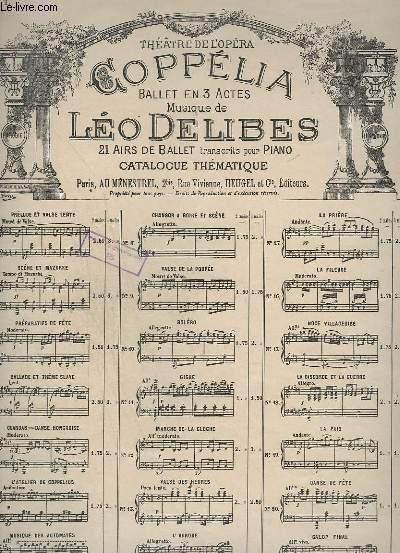 COPPELIA - N°1 : PRELUDE ET VALSE LENTE - PIANO.