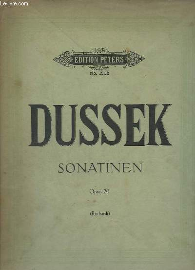 SONATINEN - OP 20 : N°1 AU N°6 - PIANO.