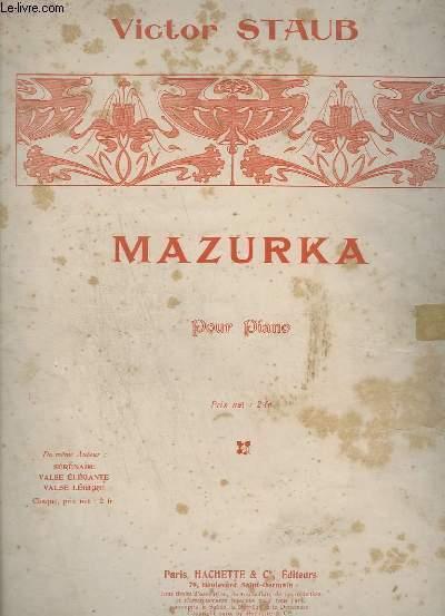 MAZURKA - POUR PIANO.