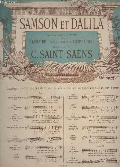 SAMSON ET DALILA - OPERA EN 3 ACTES - N° 6 BIS : LE MEME, SOPRANO - PIANO.