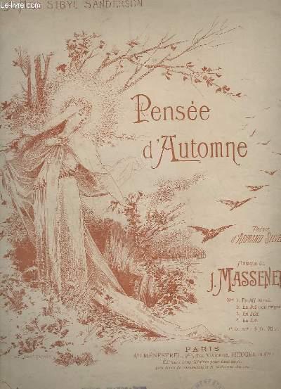 PENSEE D'AUTOMNE - N° 2 : EN FA (TON ORIGINAL) - PIANO / CHANT.