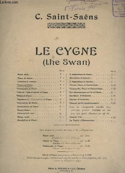 LE CYGNE - EXTRAIT DU CARNAVAL DES ANIMAUX - VIOLON ET PIANO.
