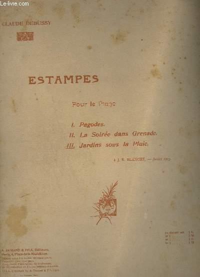 ESTAMPES - N° 3 : JARDINS SOUS LA PLUIE - POUR PIANO.