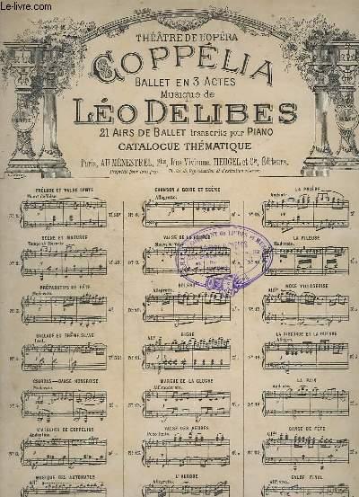 COPPELIA - N° 13 : VALSE DES HEURES - TRANSCRIT POUR PIANO.