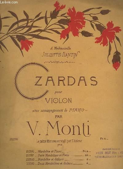 CZARDAS - POUR VIOLON AVEC ACCOMPAGNEMENT PIANO.