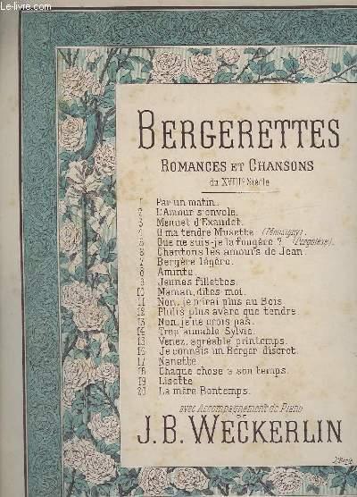 BERGERETTES - ROMANCES ET CHANSONS - N° 13 : NON, JE NE CROIS PAS - PIANO ET CHANT.