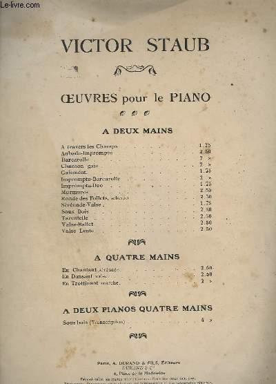 SOUS BOIS - OP. 6 - POUR PIANO A DEUX MAINS.