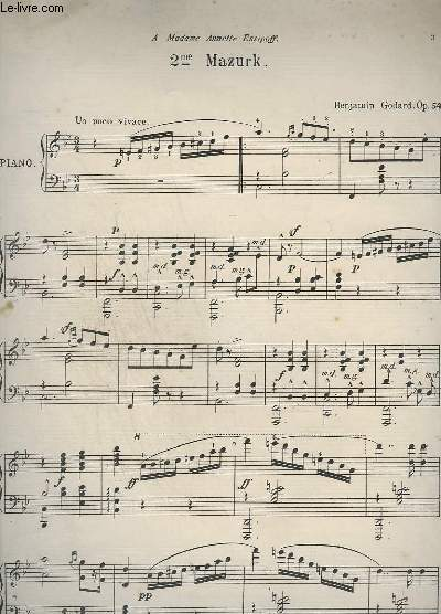 2ème MAZURK - PIANO.