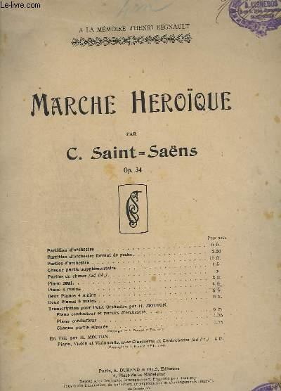 MARCHE HEROIQUE - OP. 34 - POUR PIANO A QUATRE MAINS.