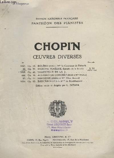 OEUVRES DIVERSES - N° 82 : MARCHE FUNEBRES - OP.35.