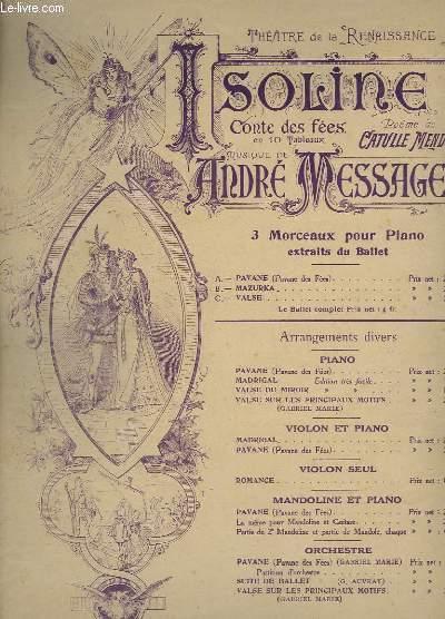 ISOLINE - MORCEAUX EXTRAITS DU BALLET. - POUR PIANO SEUL - C : VALSE.