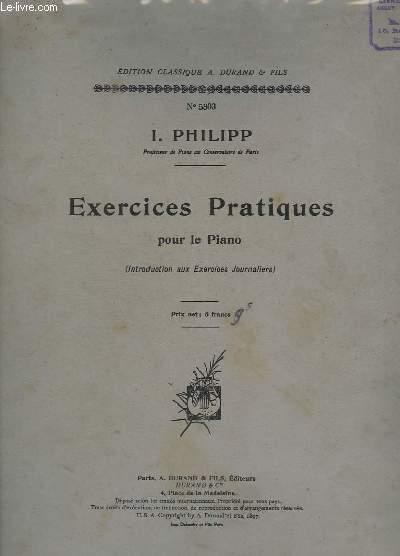 EXERCICES PRATIQUES POUR LA PIANO - N° 5303.