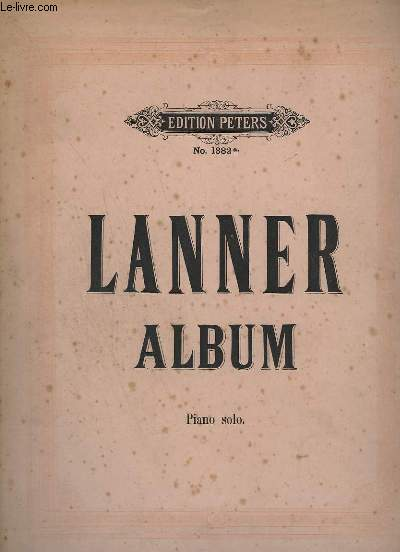 LANNER ALBUM - N°1382a - PIANO SOLO.