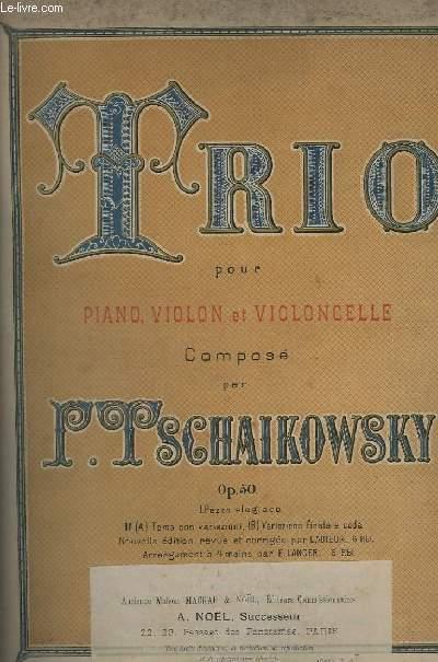 TRIO POUR VIOLON, VIOLON ET VIOLONCELLE - OP.50.