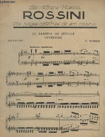 LE BARBIER DE SEVILLE OPUVERTURE - POUR PIANO.