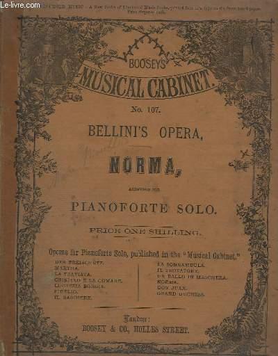 BELLINI'S OPERA, NORMA - POUR PIANOFORTE SOLO.