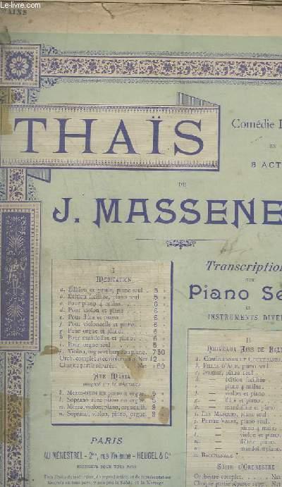 THAIS - MEDITATION : C: POUR PIANO A 4 MAINS + VIOLON.