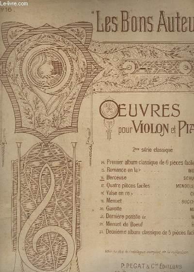 BERCEUSE - N° 16 - OP. 124 - POUR VIOLON ET PIANO.