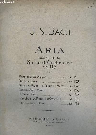 ARIA - EXTRIT DE L'ORCHESTRE EN RE - PIANO ET VIOLON + PARTITIONS MANUSCRITES POUR PIANO/VIOLON/SAXO ALTO.