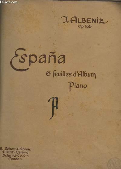 ESPANA - OP.165 - 6 FEUILLES D'ALBUM - POUR PIANO.