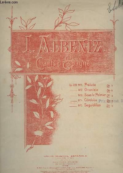 CHANTS D'ESPAGNE - N° 4 : CORDOBA - OP.232.