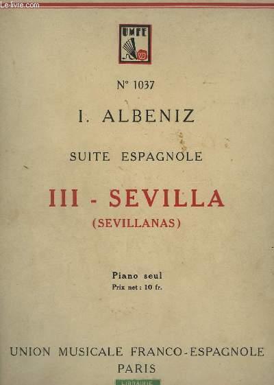 SUITE ESPAGNOLE - N°3 : SEVILLA (SEVILLANAS) - PIANO SEUL.