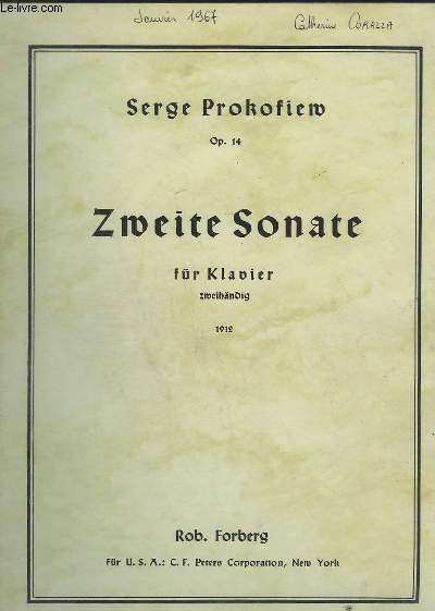 ZWEITE SONATE - POUR PIANO - OP.14.