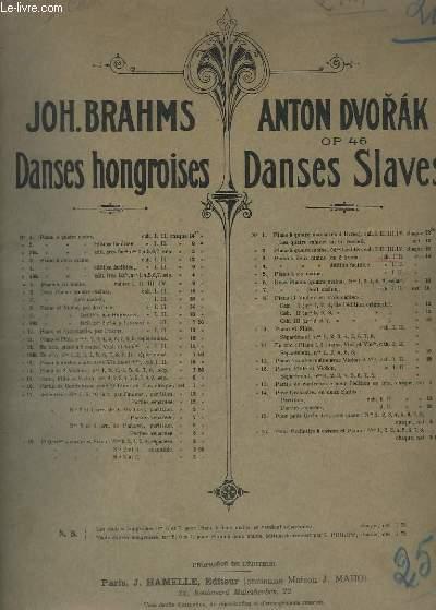 DANSES SLAVES - OP.46 -N° 3 : POUR PIANO - CAHIER 1.