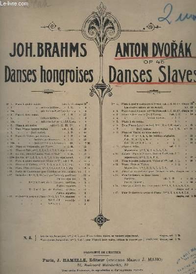 DANSES SLAVES - OP.46 -N° 3 : POUR PIANO - CAHIER 2.