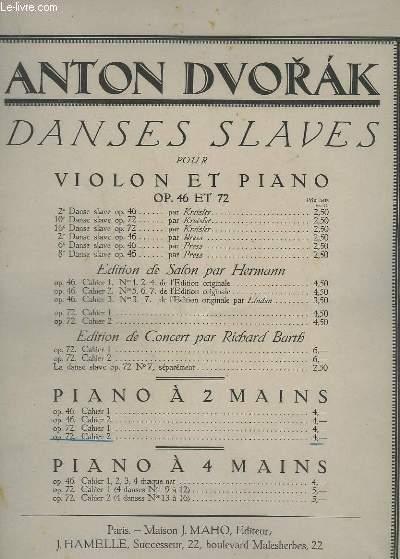DANSES SLAVES - POUR PIANO A DEUX MAINS - OP.72 - CAHIER 2 (13 - 16).