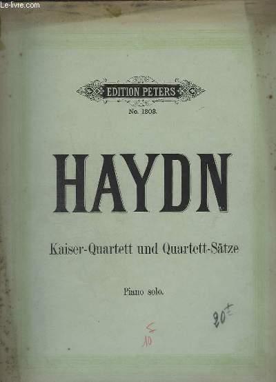 KAISER-QUARTETT UND QUARTETT-SATZE - PIANO SOLO - 18 TITRES : SERENATA + ADAGIO + MENUETTO, ADAGIO + MENUETTO + ANDANTE + ADAGIO, MENUETTO ...