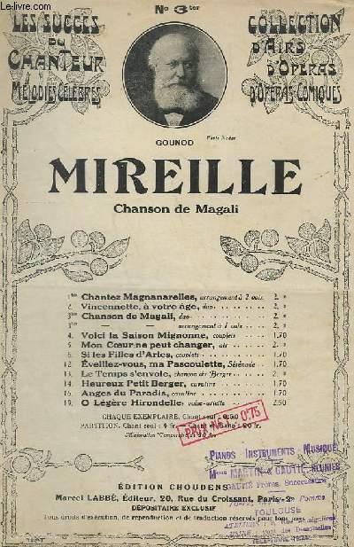 MIREILLE - N°3 TER - ARRANGEMENT A 1 VOIX.