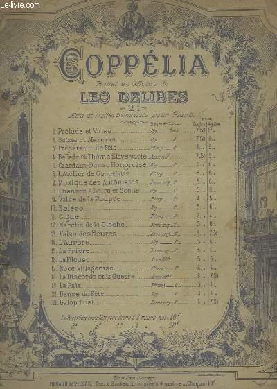 COPPELIA - BALLET EN 3 ACTES - N°1 : PRELUDE ET VALSE - POUR PIANO.
