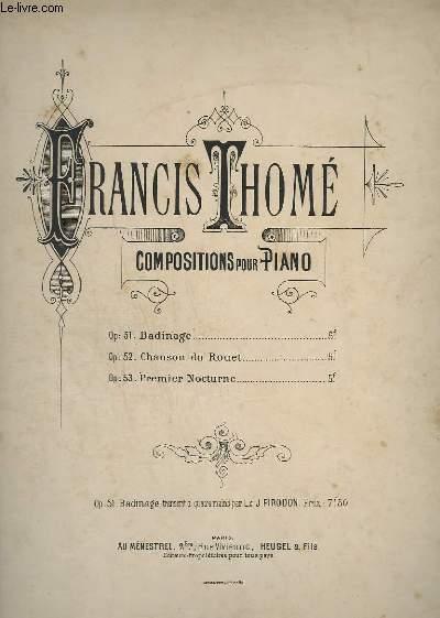 COMPOSITION POUR PIANO - OP.51 : BADINAGE.