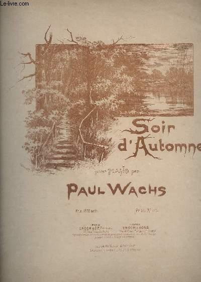 SOIR D'AUTOMNE - POUR PIANO.