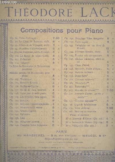 COMPOSITIONS POUR PIANO - OP.82 : VALSE-ARABESQUE.