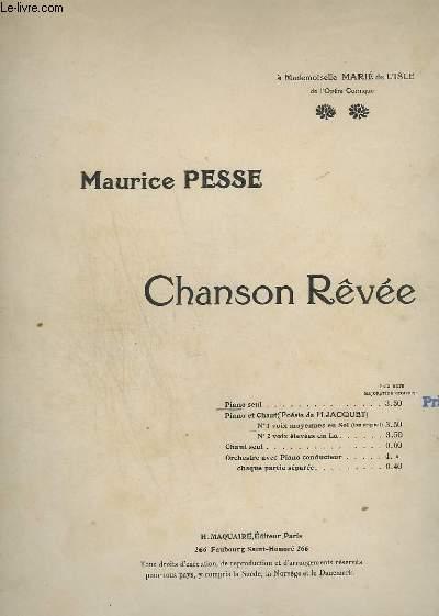 CHANSON REVEE - POUR PIANO SEUL.