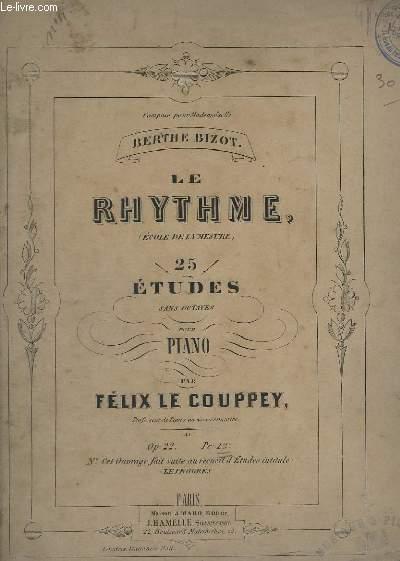 LE RYTHME (ECOLE DE LA MESURE), 25 ETUDES SANS OCTAVES POUR LE PIANO - OP.22.