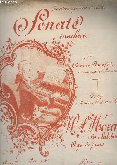 SONATE INACHEVEE - POR CLAVECIN OU PIANOFORTE AVEC ACCOMPAGNEMENT DE VIOLON - OP.1.