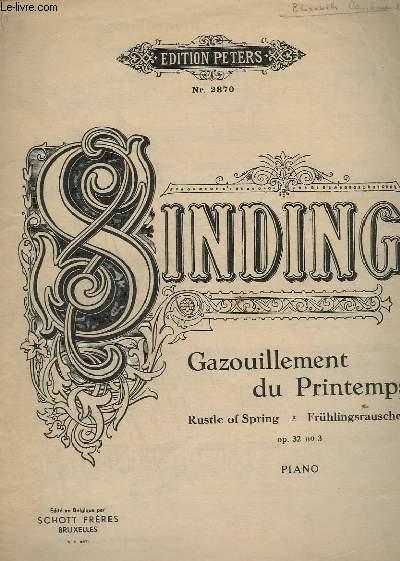 GAZOUILLEMENT DU PRINTEMPS / FRUHLINGSRAUSCHEN / RUSTLE OF SPRING - OP.32 - N°3 - POUR PIANO.