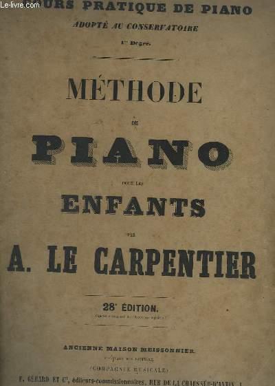 METHODE DE PIANO POUR LES ENFANTS - 28° EDITION.