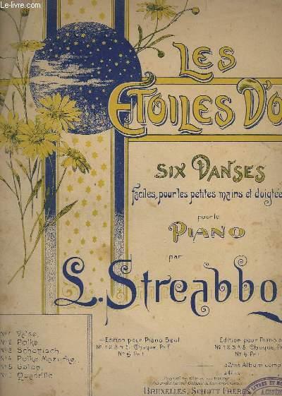 LES ETOILES D'OR - SIX DANSES FACILES POUR LES PETITES MAINS ET DOIGTEES POUR LE PIANO - N° 1 : VALSE.