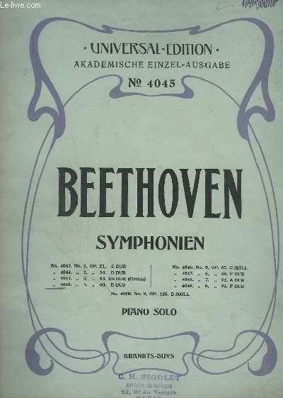 SYMPHONIEN N° 4045. - N°4 : OP.60 - B DUR - PIANO SOLO.