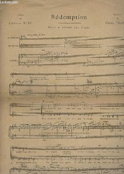 REDEMPTION - RECIT ET CHOEUR DES ANGES - PIANO / SOPRANO 1 ET 2.