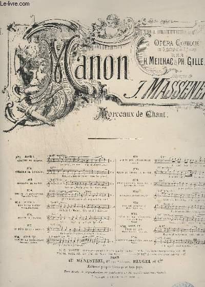 MANON - N° 11 : EPOUSE QUELQUE BRAVE FILLE ! - PIANO.