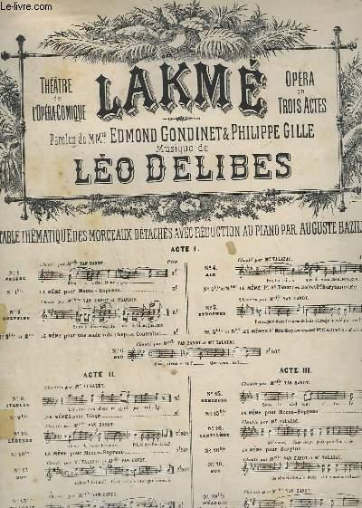 LAKME - N° 9 - STANCES - POUR PIANO.