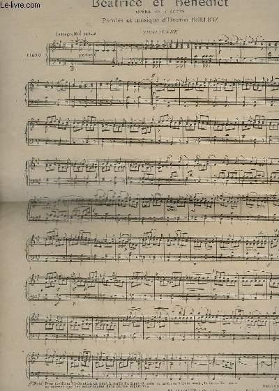 BEATRICE ET BENEDICT - POUR PIANO.