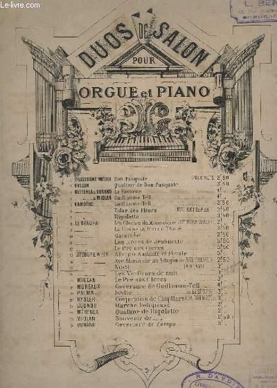 DUO DE SALON - ORGUE ET PIANO - N° 15 : NOËL.